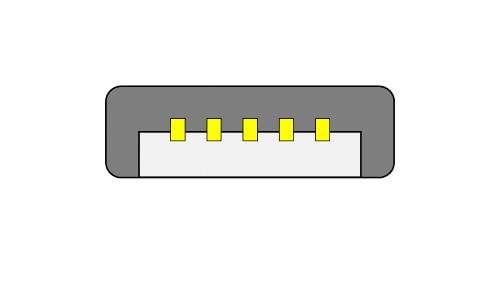 Micro USB Micro-A のコネクタ図